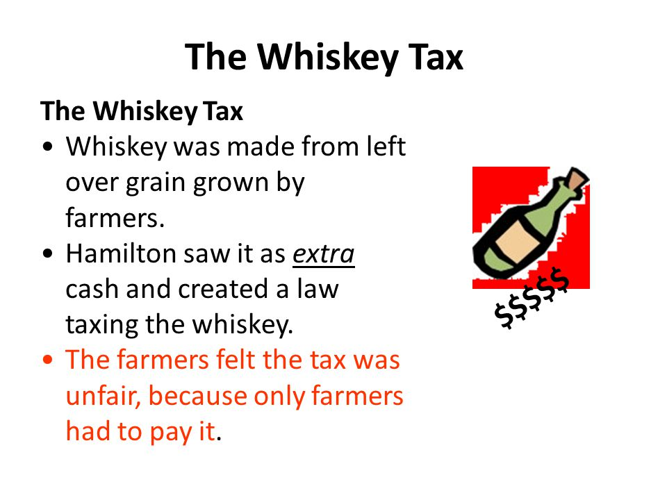 The Whiskey Tax $$$$$ The Whiskey Tax