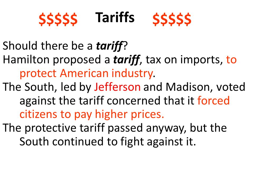 Tariffs $$$$$ $$$$$ Should there be a tariff