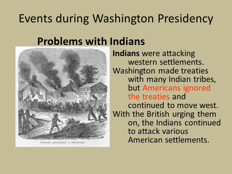Events during Washington Presidency