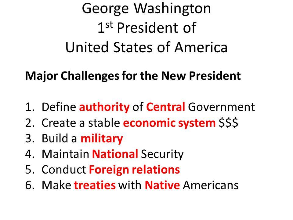 George Washington 1st President of United States of America