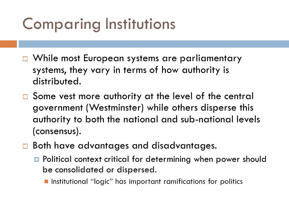 Comparing Institutions