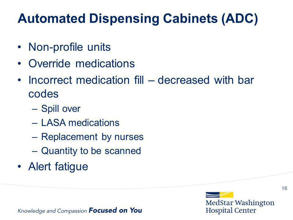 Automated Dispensing Cabinets (ADC)