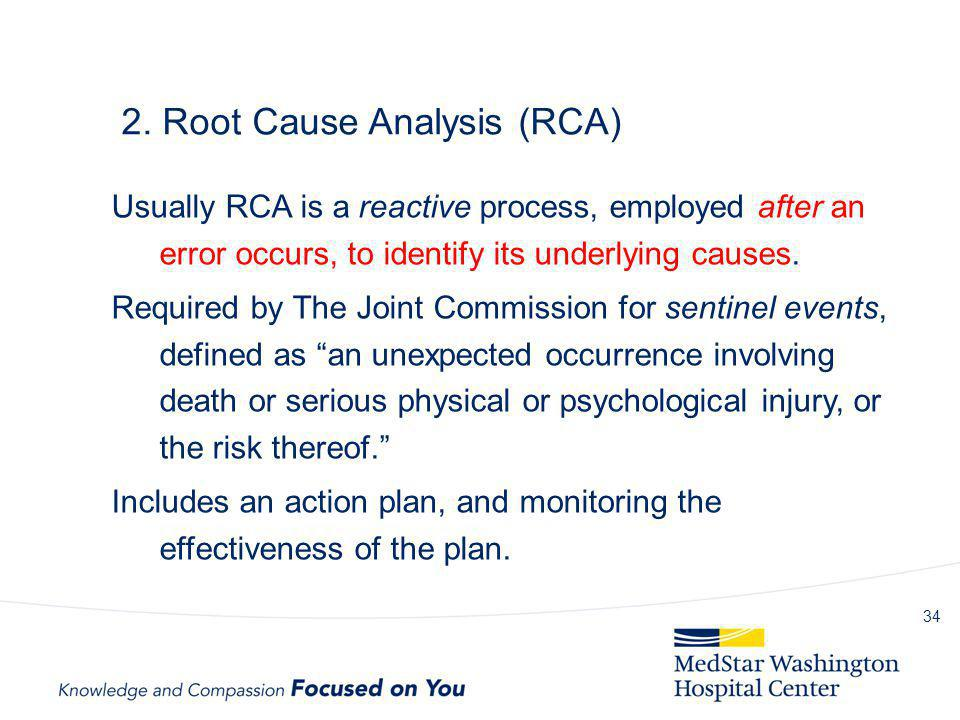 2. Root Cause Analysis (RCA)
