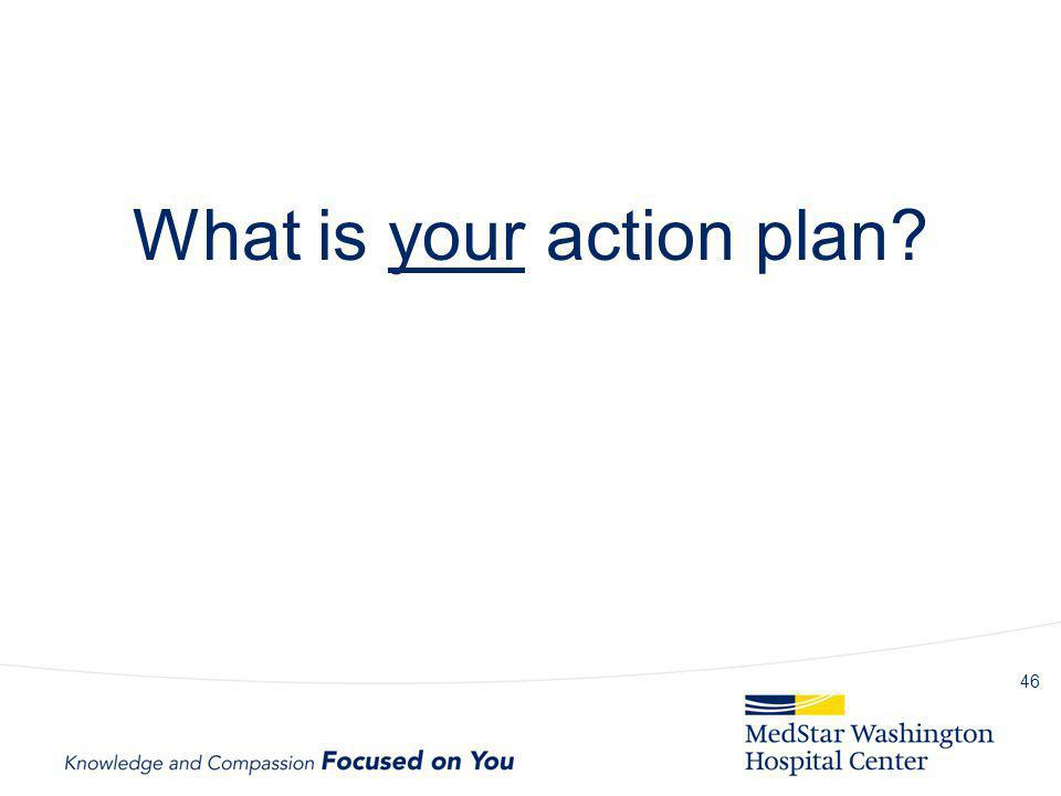 What is your action plan