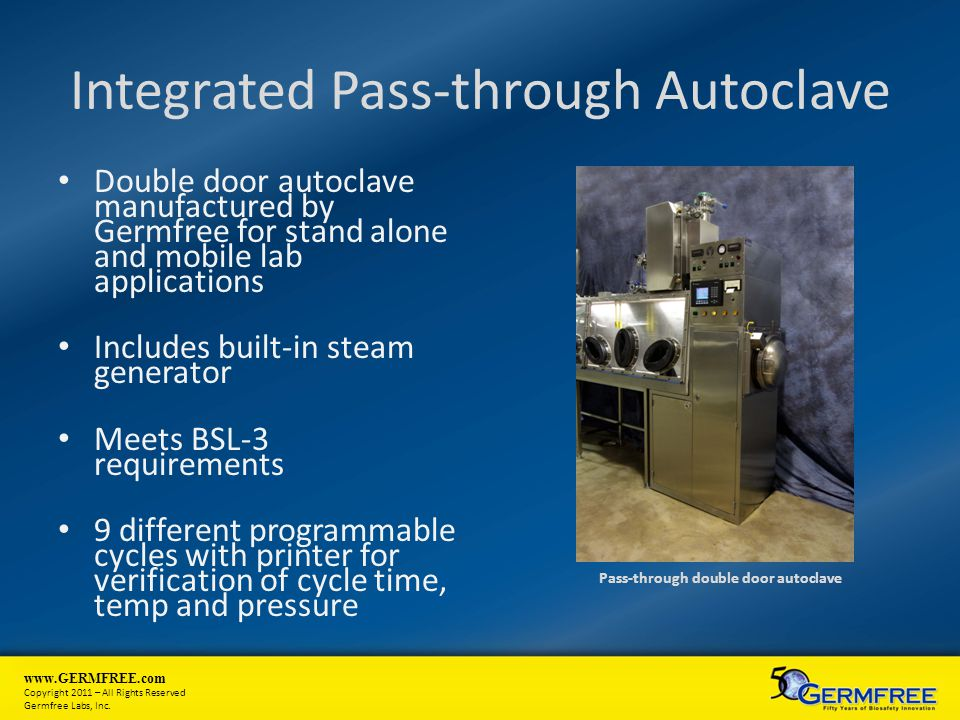 Integrated Pass-through Autoclave