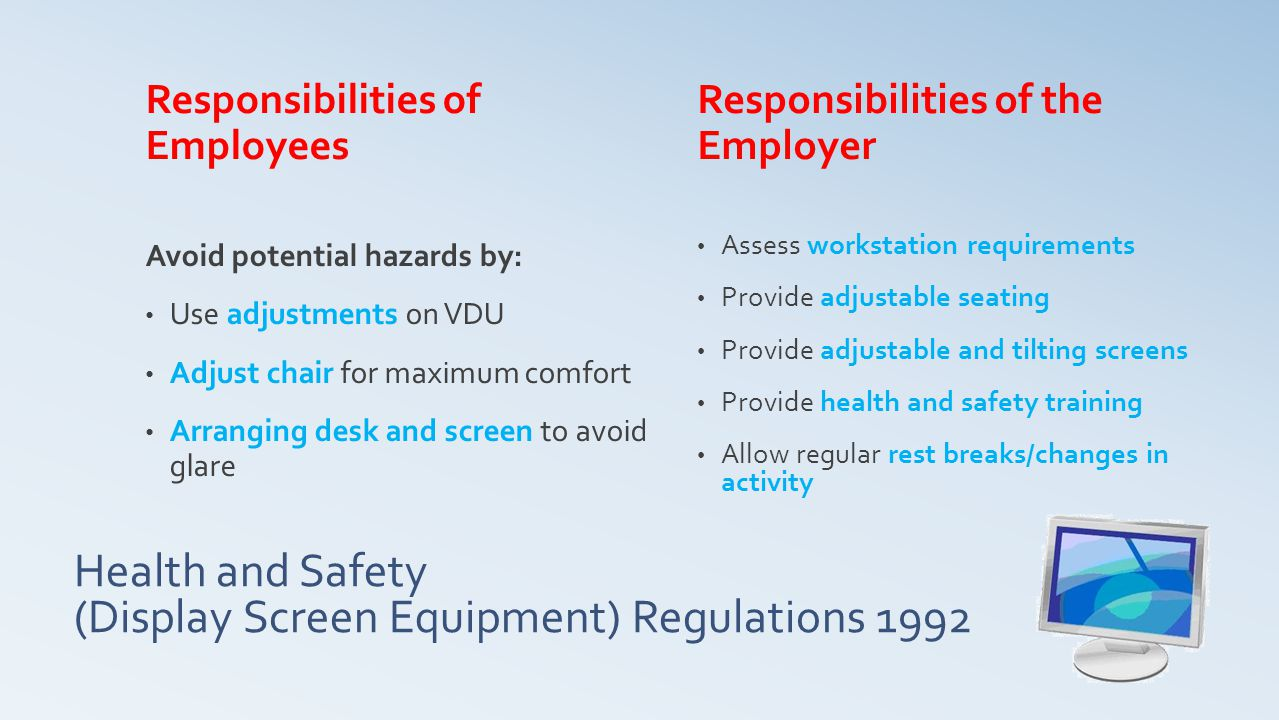 Health and Safety (Display Screen Equipment) Regulations 1992