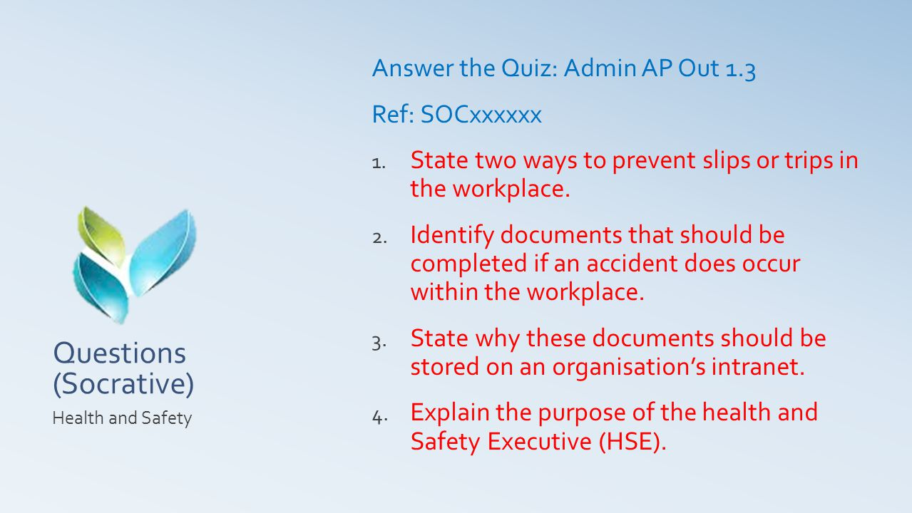 Questions (Socrative)