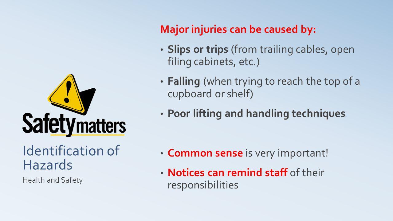 Identification of Hazards