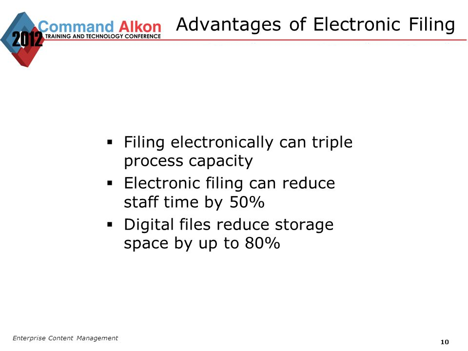 Advantages of Electronic Filing