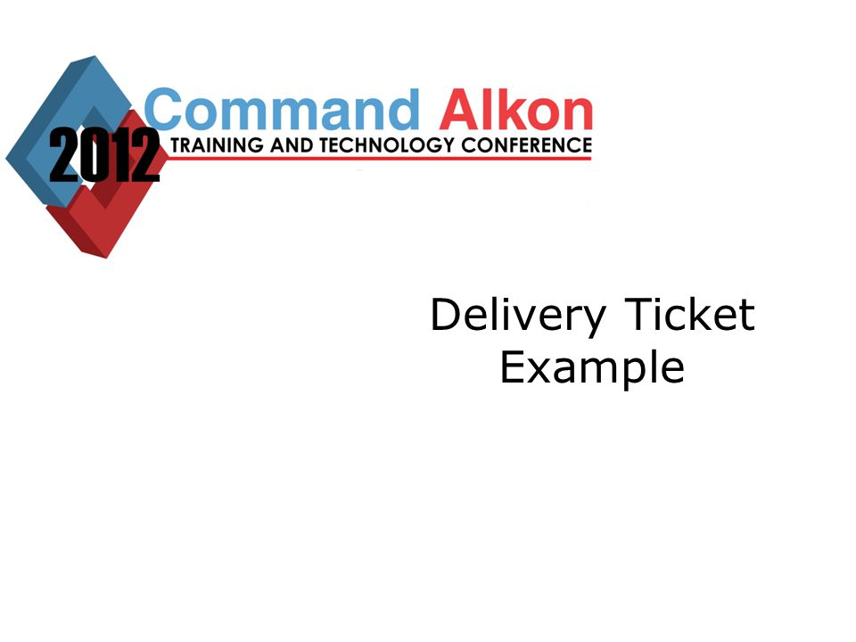 Delivery Ticket Example