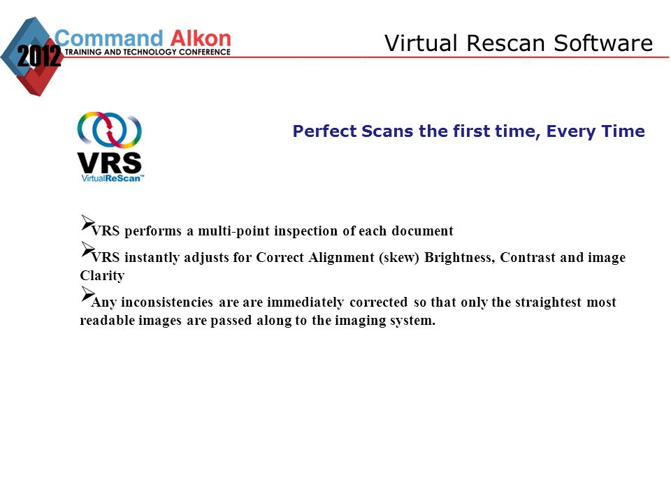 Virtual Rescan Software