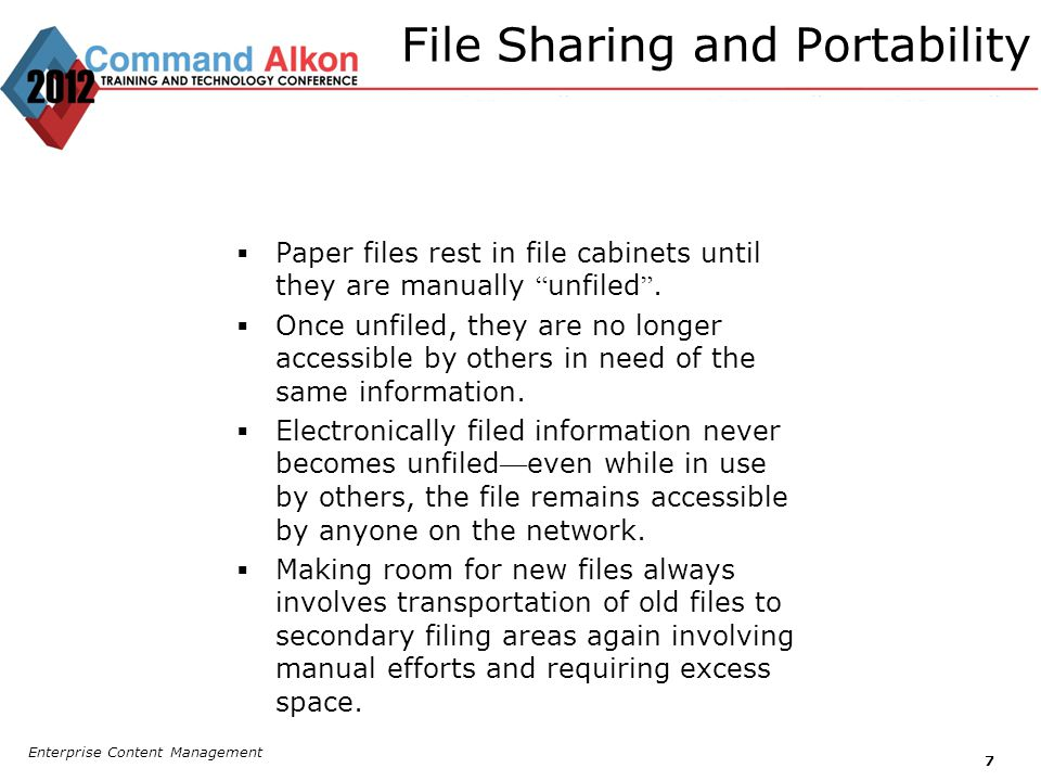 File Sharing and Portability