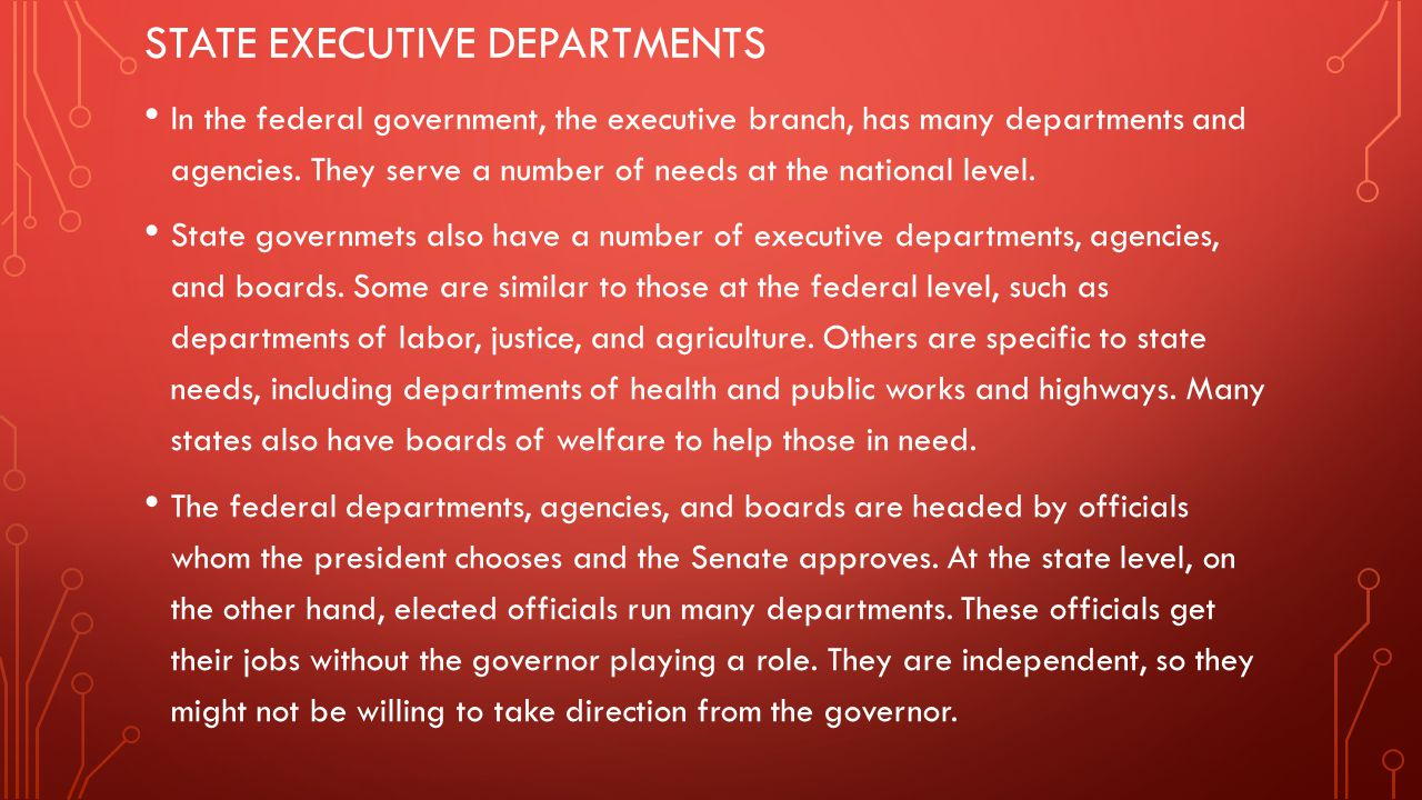 State executive departments