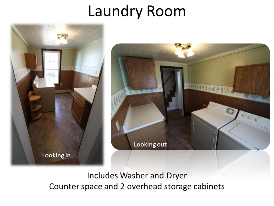 Laundry Room Includes Washer and Dryer