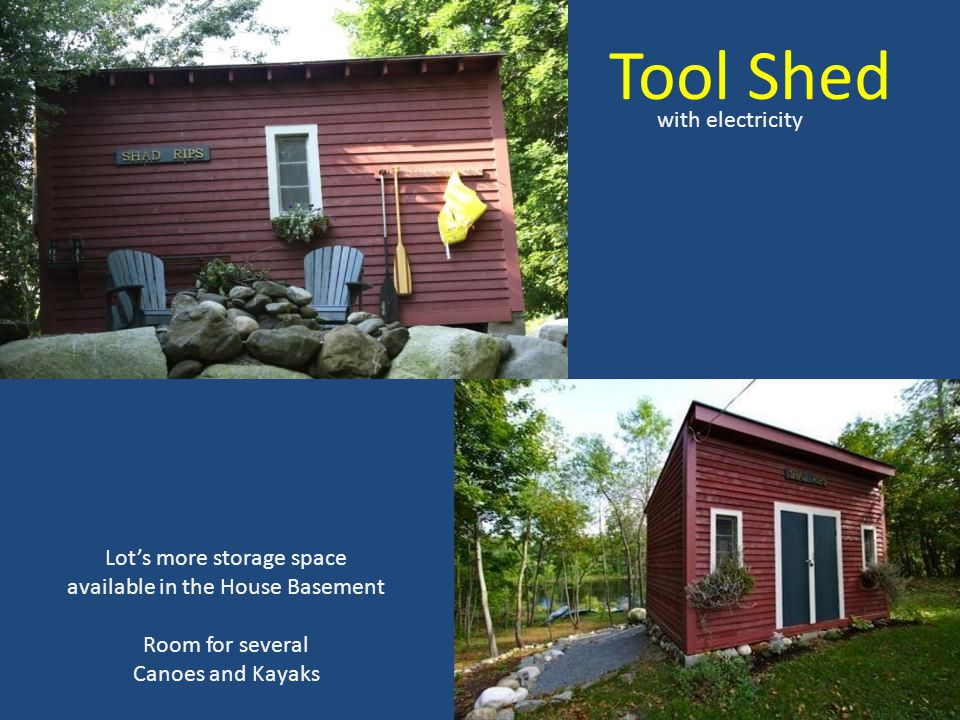Tool Shed with electricity Lot's more storage space