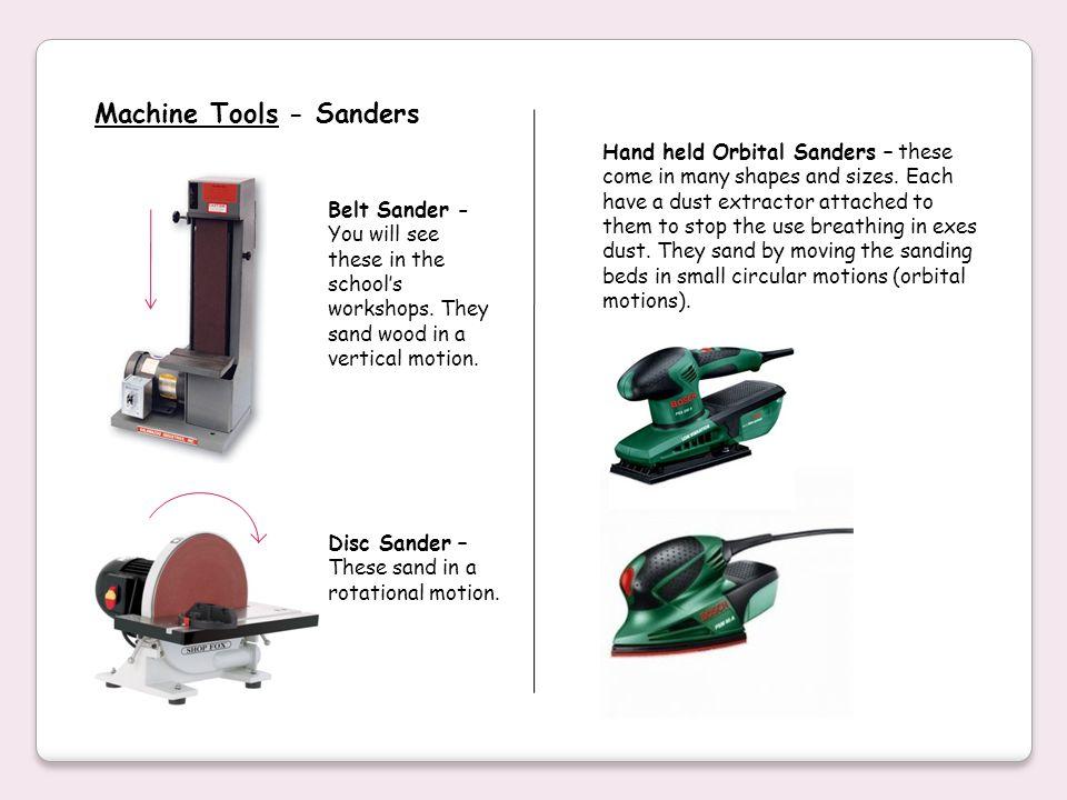 Machine Tools - Sanders