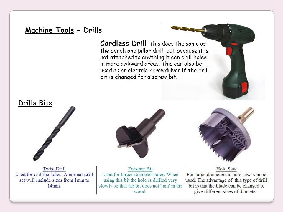 Machine Tools - Drills