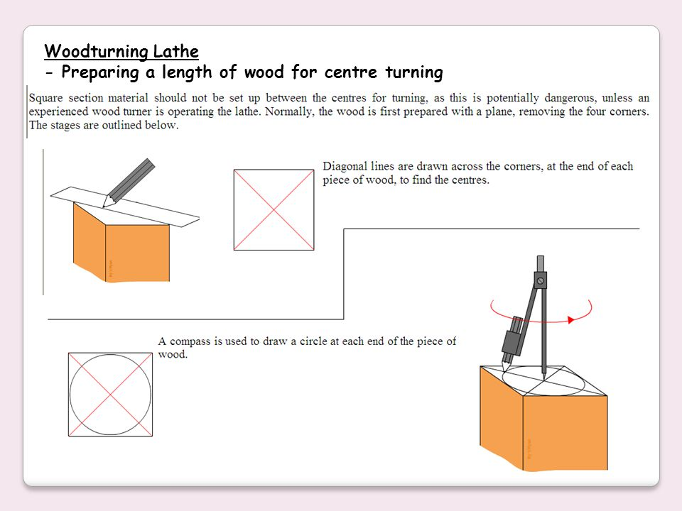 Woodturning Lathe - Preparing a length of wood for centre turning