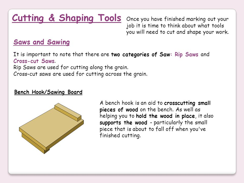 Cutting & Shaping Tools
