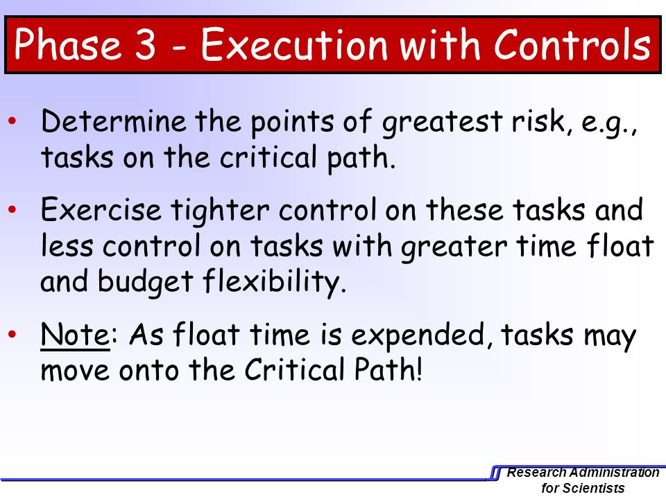Phase 3 - Execution with Controls