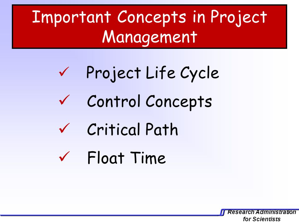Important Concepts in Project Management