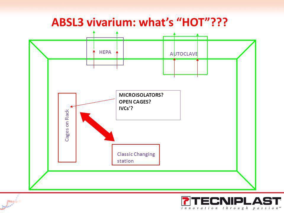 ABSL3 vivarium: what's HOT