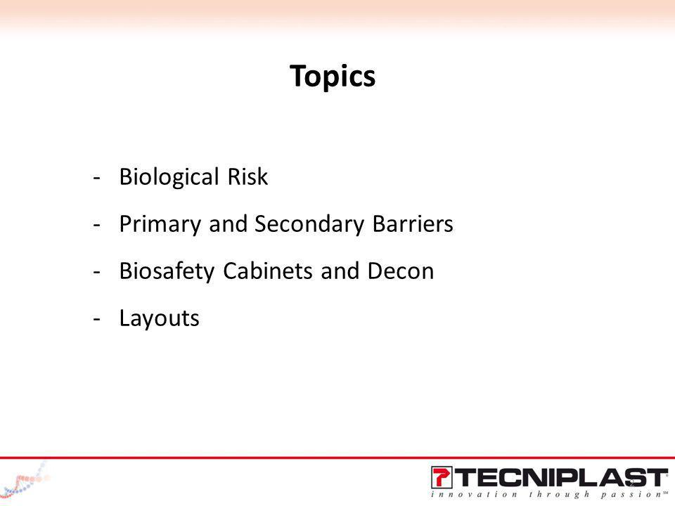 Topics Biological Risk Primary and Secondary Barriers
