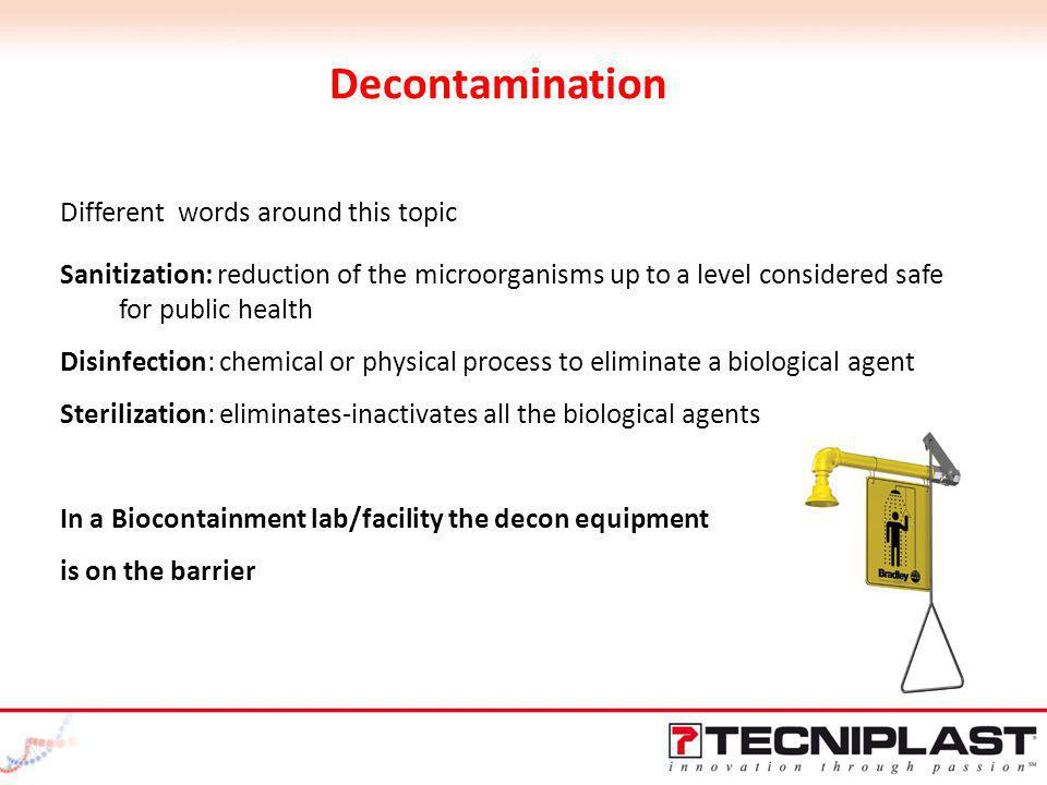 Decontamination Different words around this topic