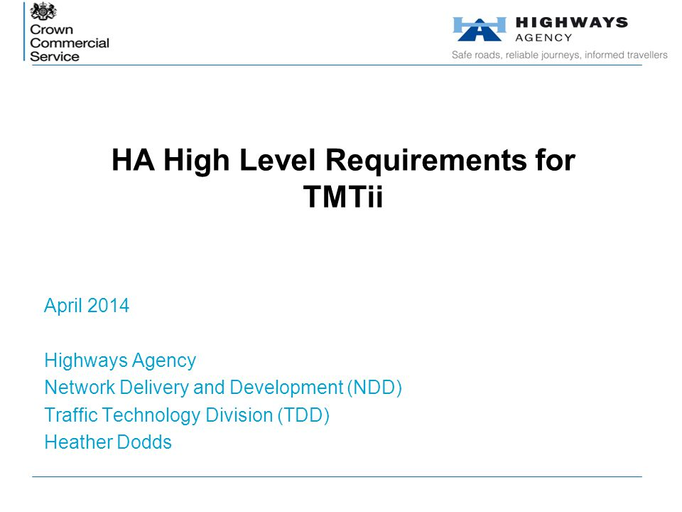 HA High Level Requirements for TMTii