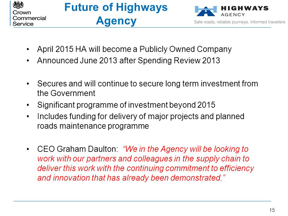 Future of Highways Agency