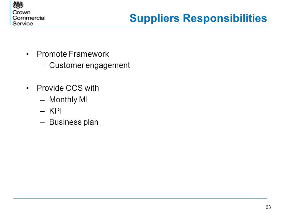 Suppliers Responsibilities