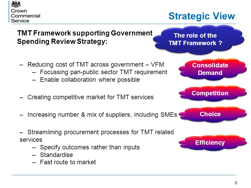 The role of the TMT Framework