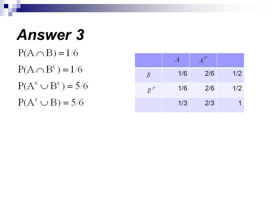 Answer 3 1/2 2/6 1/6 1 2/3 1/3