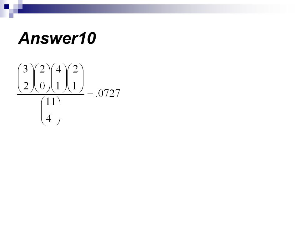 Answer10