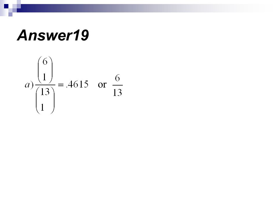 Answer19 or