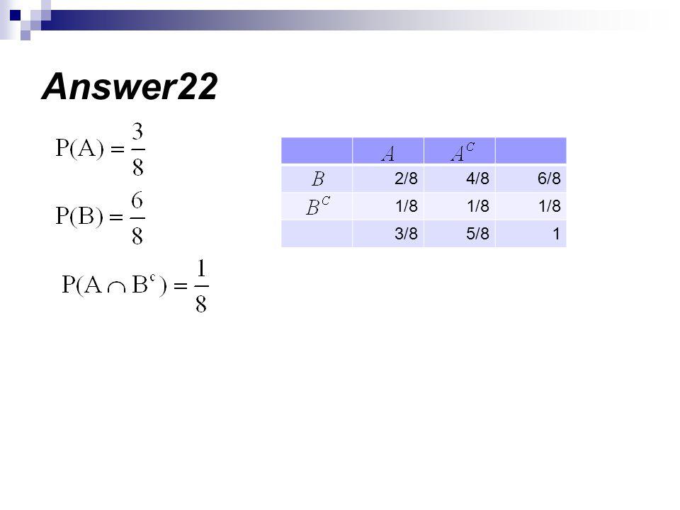 Answer22 6/8 4/8 2/8 1/8 1 5/8 3/8