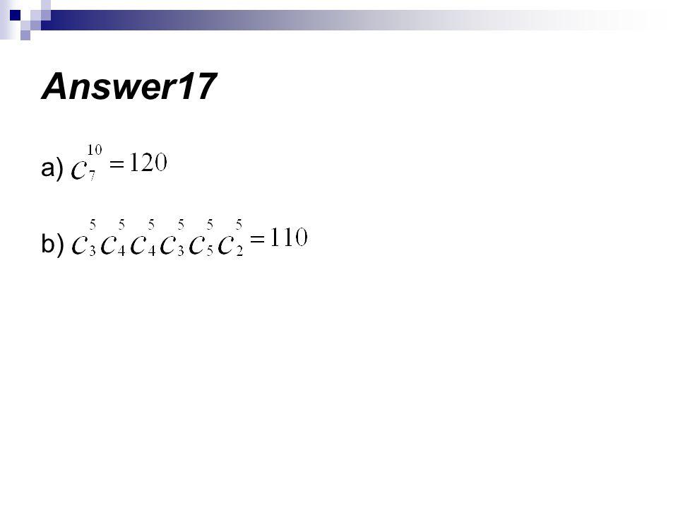 Answer17 a) b)