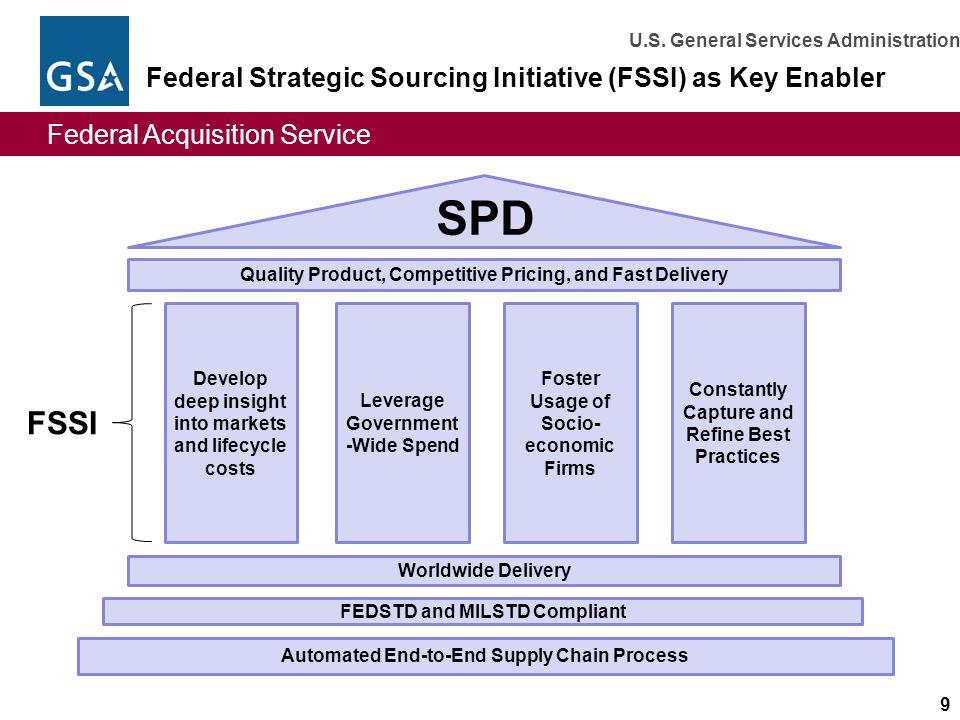 Federal Strategic Sourcing Initiative (FSSI) as Key Enabler
