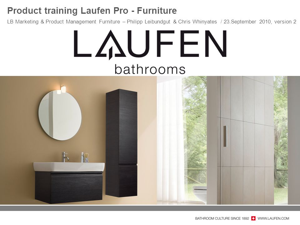 Product training Laufen Pro - Furniture