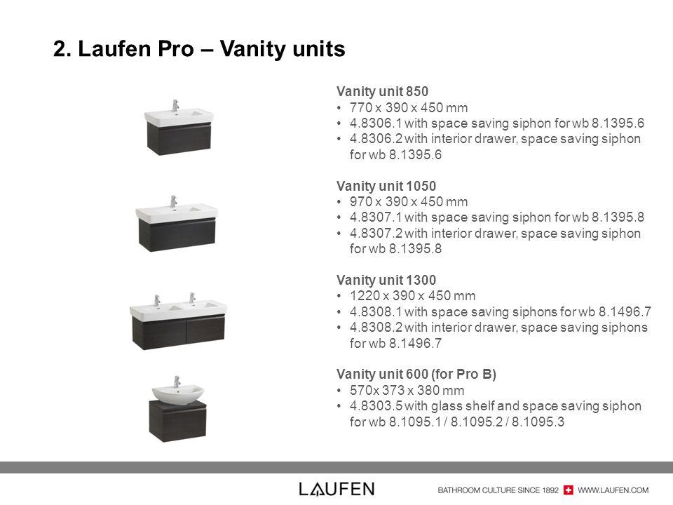 2. Laufen Pro – Vanity units