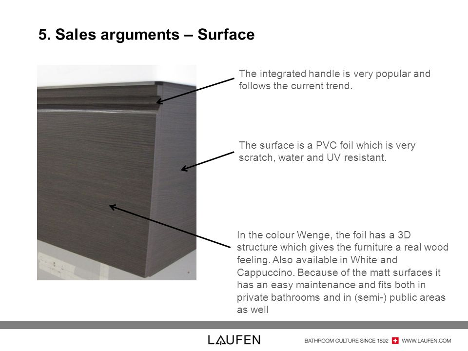 5. Sales arguments – Surface