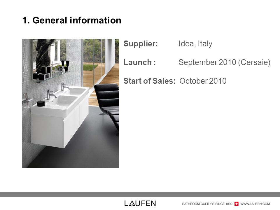 1. General information Supplier: Idea, Italy