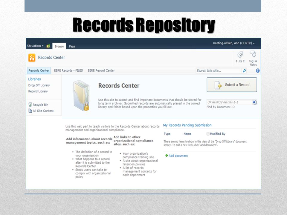Records Repository