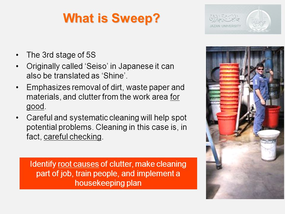 What is Sweep The 3rd stage of 5S