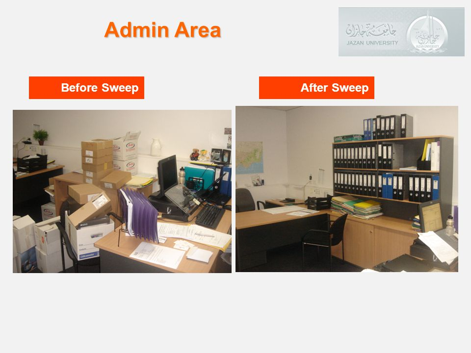 Admin Area Before Sweep After Sweep