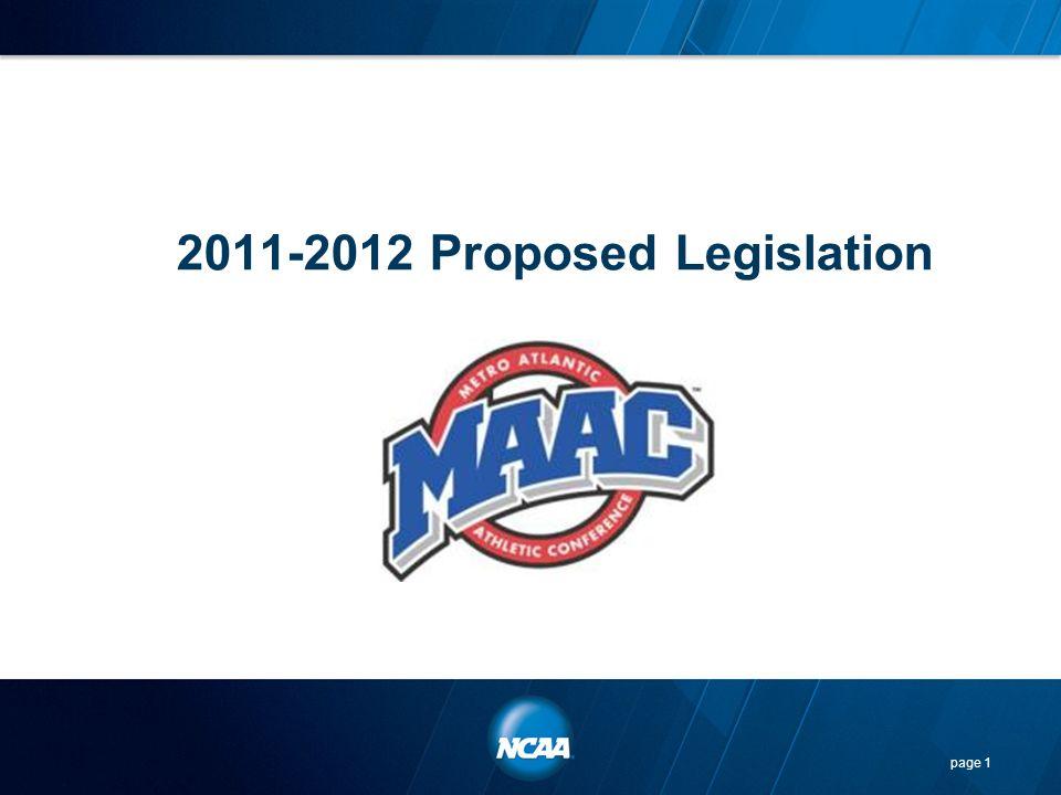 2011-2012 Proposed Legislation
