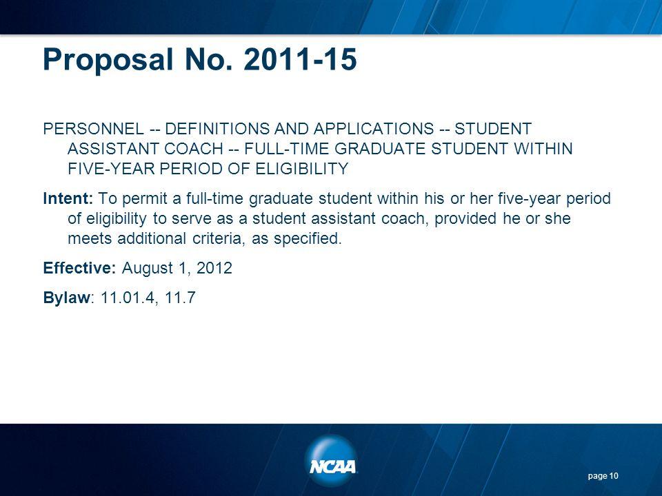 Proposal No. 2011-15