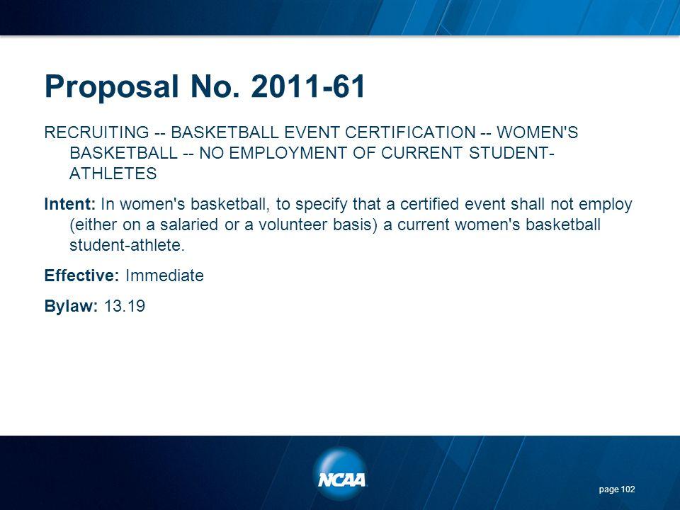 Proposal No. 2011-61