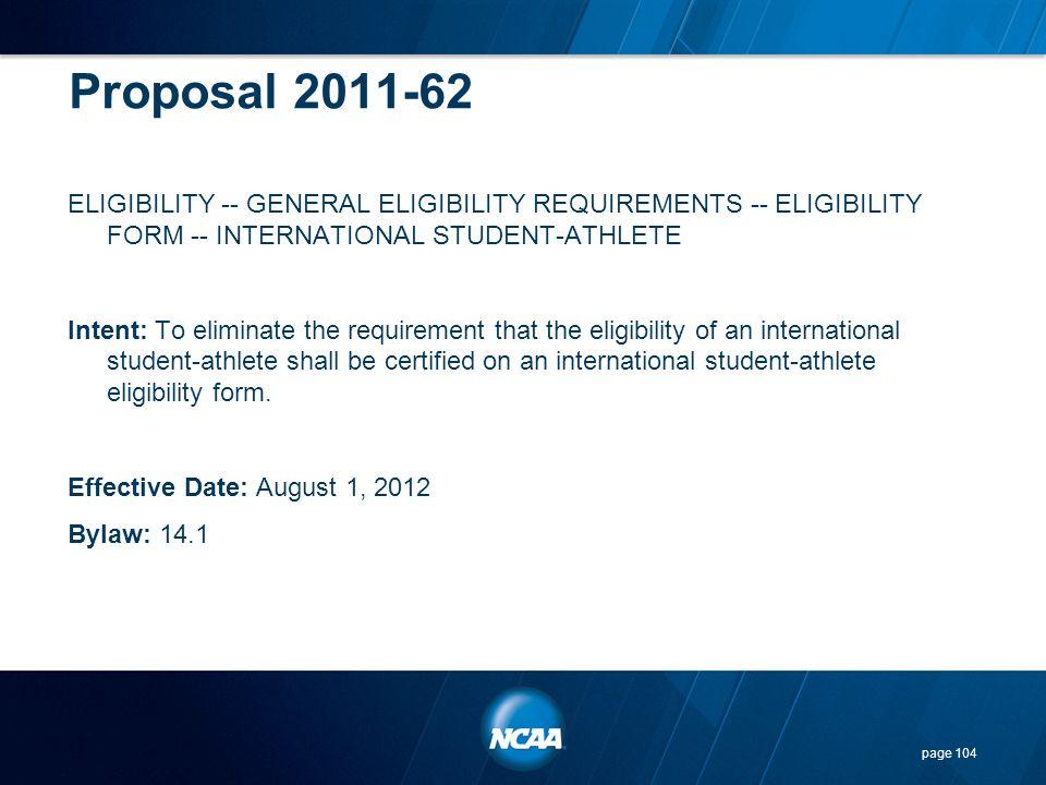 Proposal 2011-62