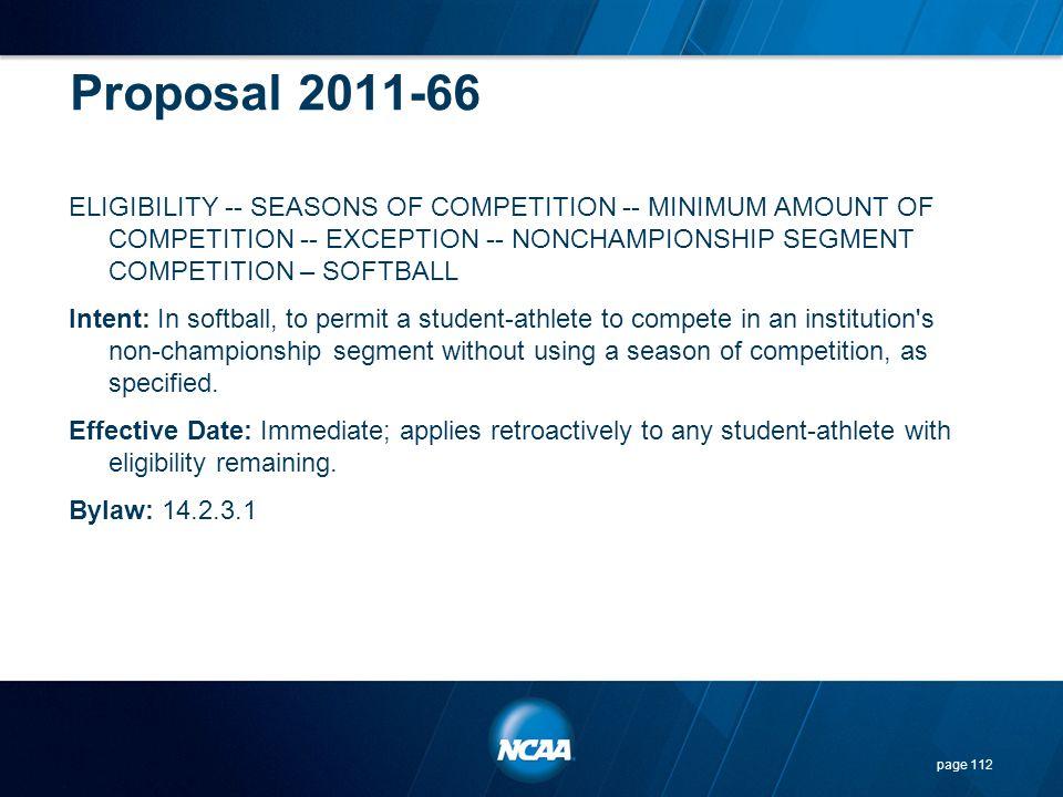 Proposal 2011-66